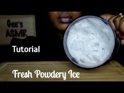 asmr-tutorial-freshly-blended-powdery-ice|ice-eating|no-talking