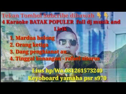 Lagu Batak Populer Karaoke  Nonstop  (No Vocal)   versi Musik Dj Mix And Lirik