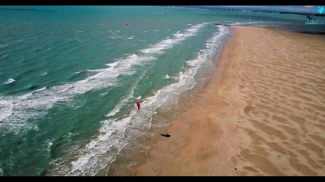 Spot kitesurf drone 4k espiguette le grau du roi for Lac salonique grau du roi