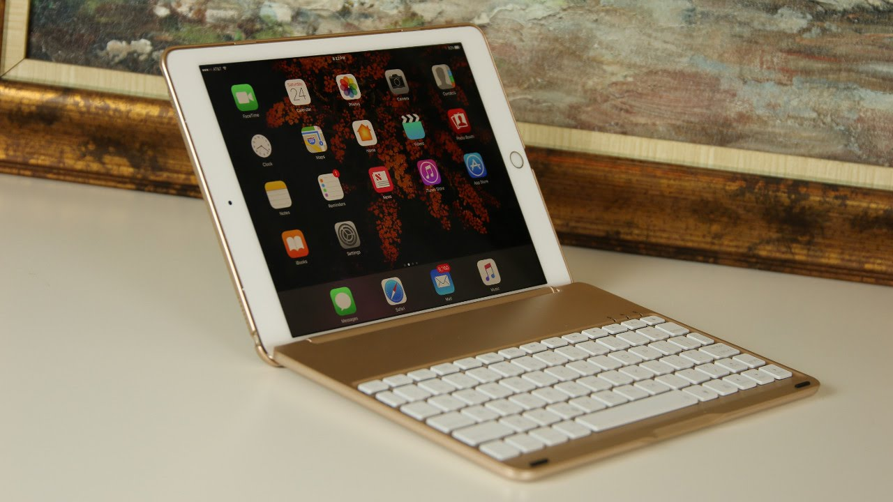 """iPad Pro 9.7"""" Keyboard Case by iEGrow with Backlit"""