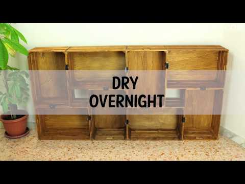 DIY Wooden Crates Bookcase