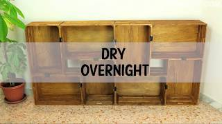 Make your own stylish bookcase using wooden crates you can buy at the craft store. More ideas on http://www.homedit.com/wooden