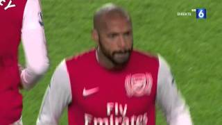 (HD) HENRY GOAL!!  Arsenal 1 - 0 Leeds FA cup 09-01 2012 WELCOME HOME
