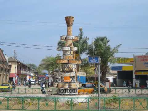 Ziguinchor in Senegal,  Casamance River  cargo port, travel,  peanut oil factory,  markets,