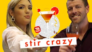 'Love Is Blind' Stars Damian + Giannina Drink Cocktails Full Of Buffalo Sauce 😳 | Stir Crazy | Cosmo