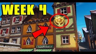 COMMENT À FIND WEEK 4 SEASON 7 SECRET BANNER ON FORTNITE (Battle Pass Challenges)