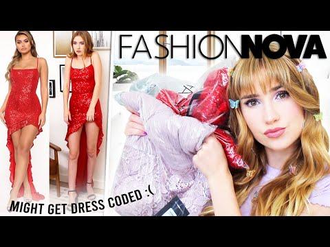 TRYING ON FASHIONNOVA PROM DRESSES!! What Brand NEXT?!