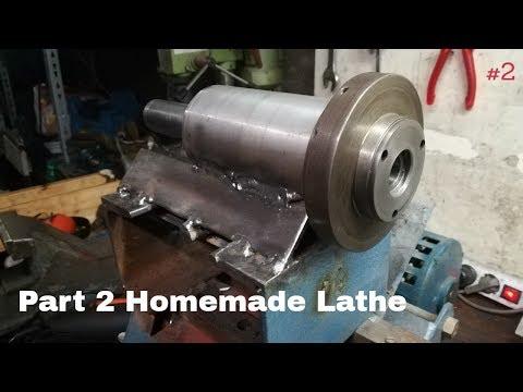 Homemade Metal Lathe Part #2- Converting Wood Lathe to Metal