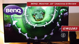 Benq Monitor - 22 39 39 IPS 1080P Full HD GW2283 Unboxing amp Review