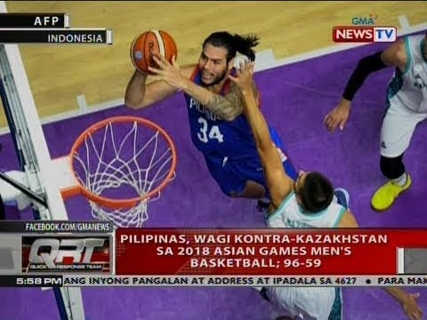 QRT: Pilipinas, wagi kontra-Kazakhstan sa 2018 Asian Games Men's Basketball; 96-59