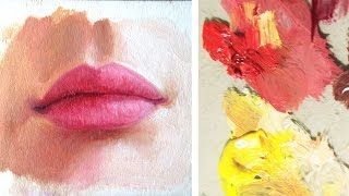 How to Paint a Realistic Mouth/Lips