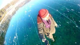 Fantastic ice of Lake Baikal