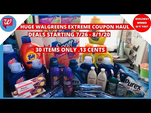 WALGREENS EXTREME COUPON HAUL DEALS STARTING 7/26 | 30 ITEMS ONLY .13 CENTS | SHOCKING GOOD DEALS!!