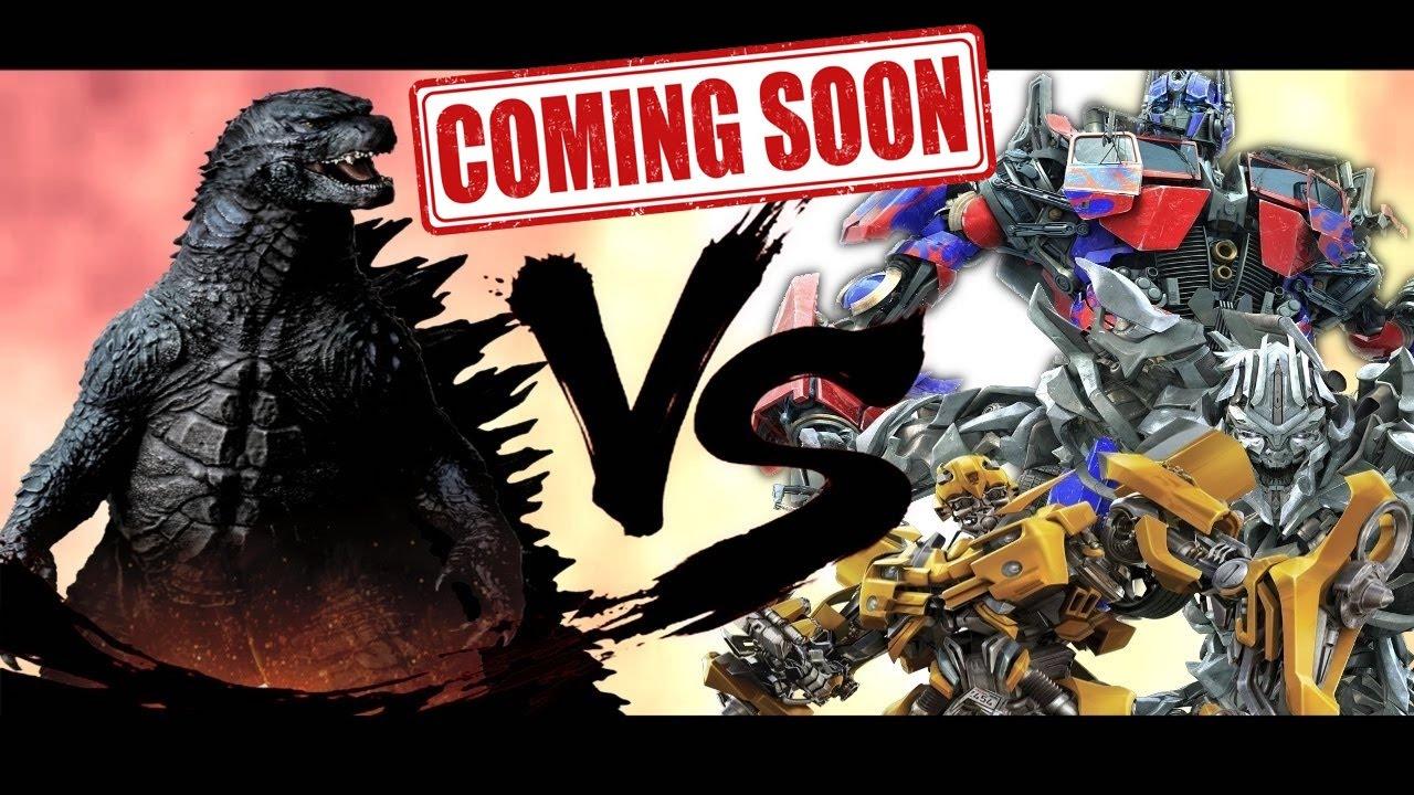 the transformers vs godzilla total war cartoon fight