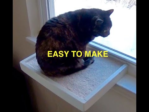 how to make a window cat perch youtube. Black Bedroom Furniture Sets. Home Design Ideas