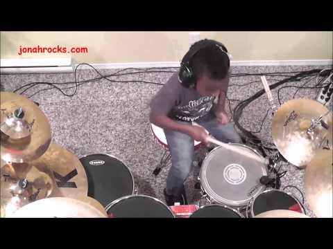 Black Eyed Peas - Pump It, 8 year old Drummer, Jonah Rocks.