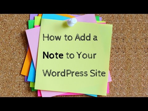 How to Add a Note to Your WordPress Site - 동영상