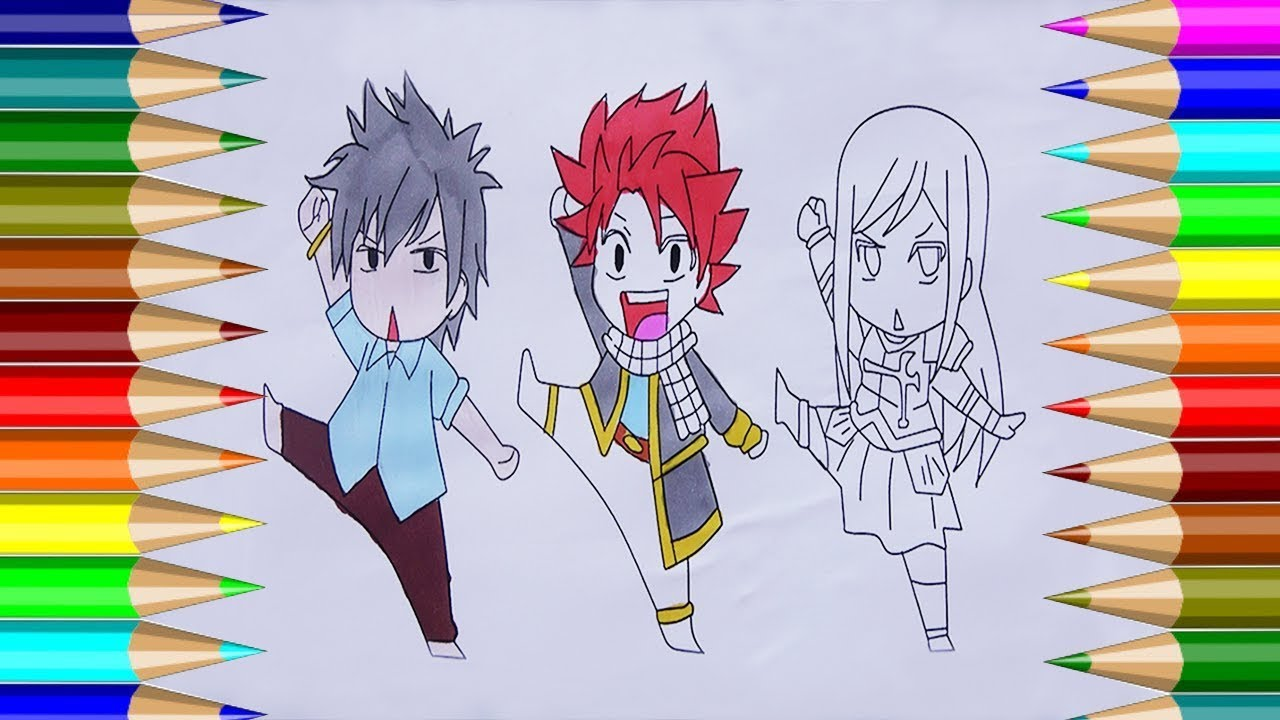 FAIRY TAIL Coloring Pages| How to Drawing Gray Fullbuster ...