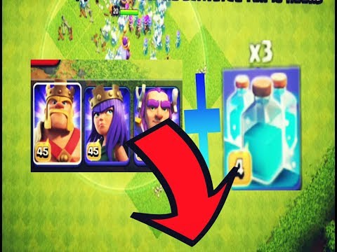 Clash Of Clans - Clone Spell!! On Max Heros(King, Queen And Grand Warden)