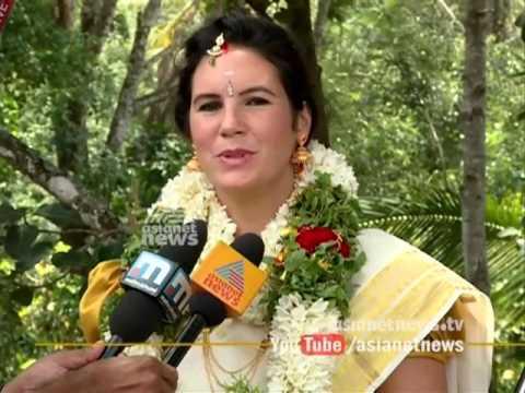 Boy from Uttar Pradesh married France girl in Kerala style
