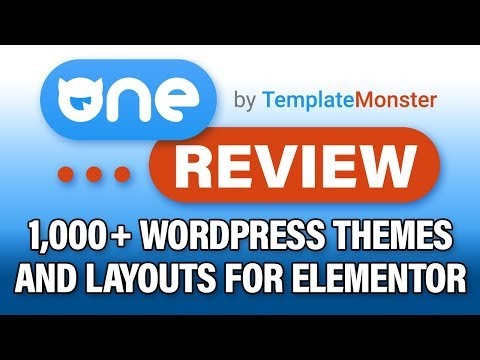 One By Template Monster Review: +1000 Elementor Wordpress Themes, Layouts, And Plugins?! thumbnail