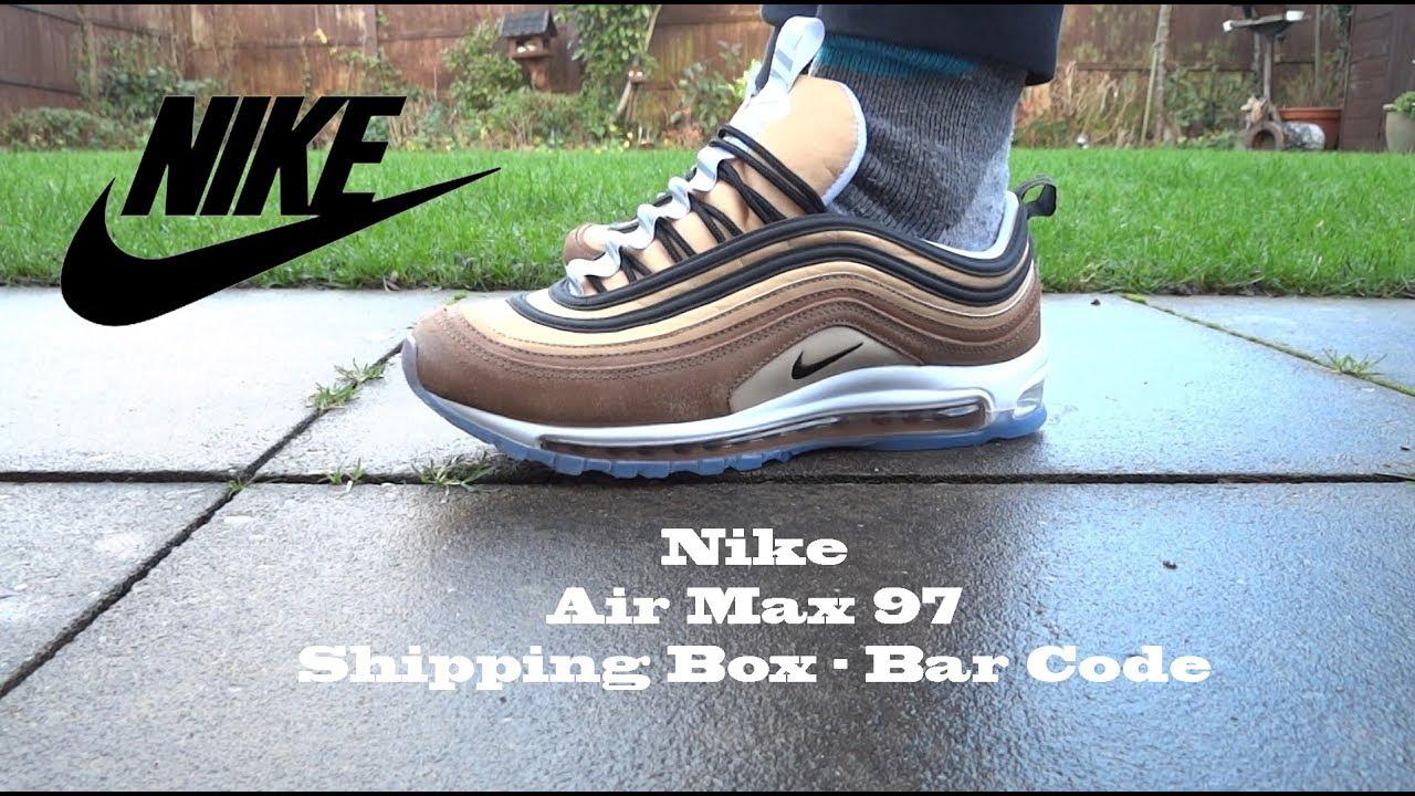 Nike Air Max 97 Shipping BoxBar Code