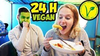 24 STUNDEN VEGAN ESSEN Challenge - Nina & Kaan ernähren sich 1 TAG REIN PFLANZLICH - Wer schaffts?