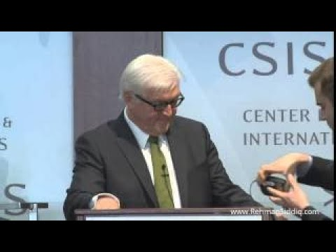 German Foreign Minister Frank Walter Steinmeier speaks on Syria, ISIS, Iran and Terrorism