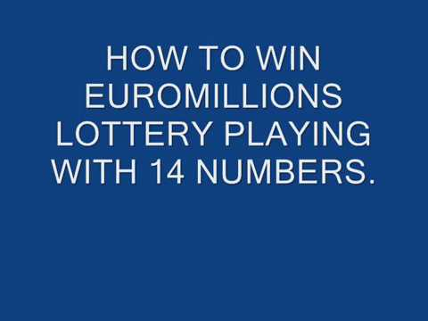 HOW TO WIN THE EUROMILLIONS LOTTERY PLAYING WITH 14 NUMBERS