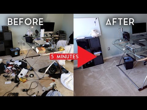 "How to: ""Completely"" Clean Your Room in Only 5 Minutes!"
