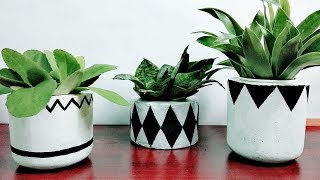 Easy Cement Pot DIY | Making Cement Pot at home