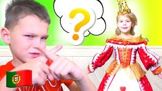 Cinco Crianças - Mania se vestem para uma festa