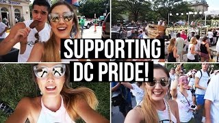 Pride Parade in Washington DC with YouTubers! | LaurDIY