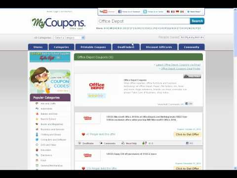How To Use Office Depot Coupon Codes