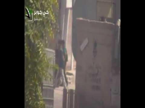 دمشق جوبر تسلل بعض عناصر الشبيحة لساحة شعبان 01 09 2012