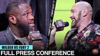 DEONTAY WILDER VS TYSON FURY 2 - FULL FOX PRESS CONFERENCE & FACE OFF VIDEO