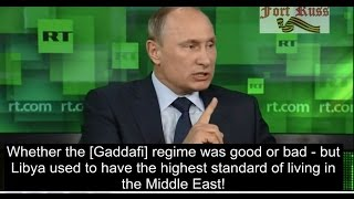 Putin on the destruction of the Middle East – Must watch!