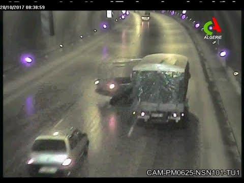 Images choc d'un accident de la route en direct- Canal Algérie