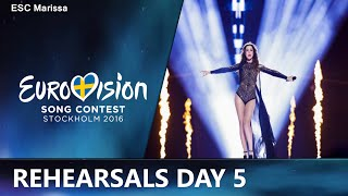 Eurovision 2016 Rehearsals Day 5 l MY TOP 20(Welcome to my Top 20 of the first and second rehearsals of day five. This video includes the rehearsals of Finland, Greece, Moldova, Hungary, Croatia, The ..., 2016-05-06T21:35:07.000Z)