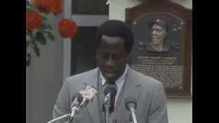 Hank Aaron 1982  Hall of Fame Induction Speech
