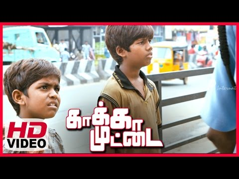 Kaakka Muttai Tamil Movie | Scenes | Security Man Did't Allow Vignesh And Ramesh To Enter Pizza Shop