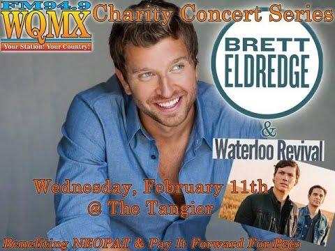 WQMX Charity Show: Brett Eldredge and Waterloo Revival