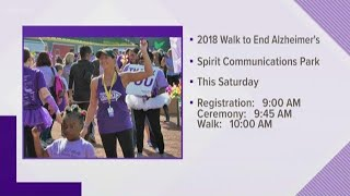 Walk to end Alzheimer's is this Saturday