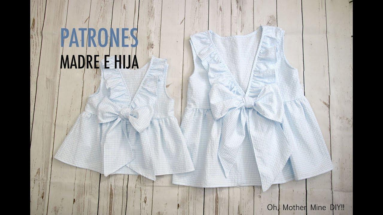 Aprender a coser: Blusa con espalda en V y volantes (patrones gratis ...