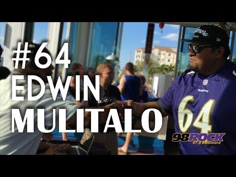 Former Raven Edwin Mulitalo