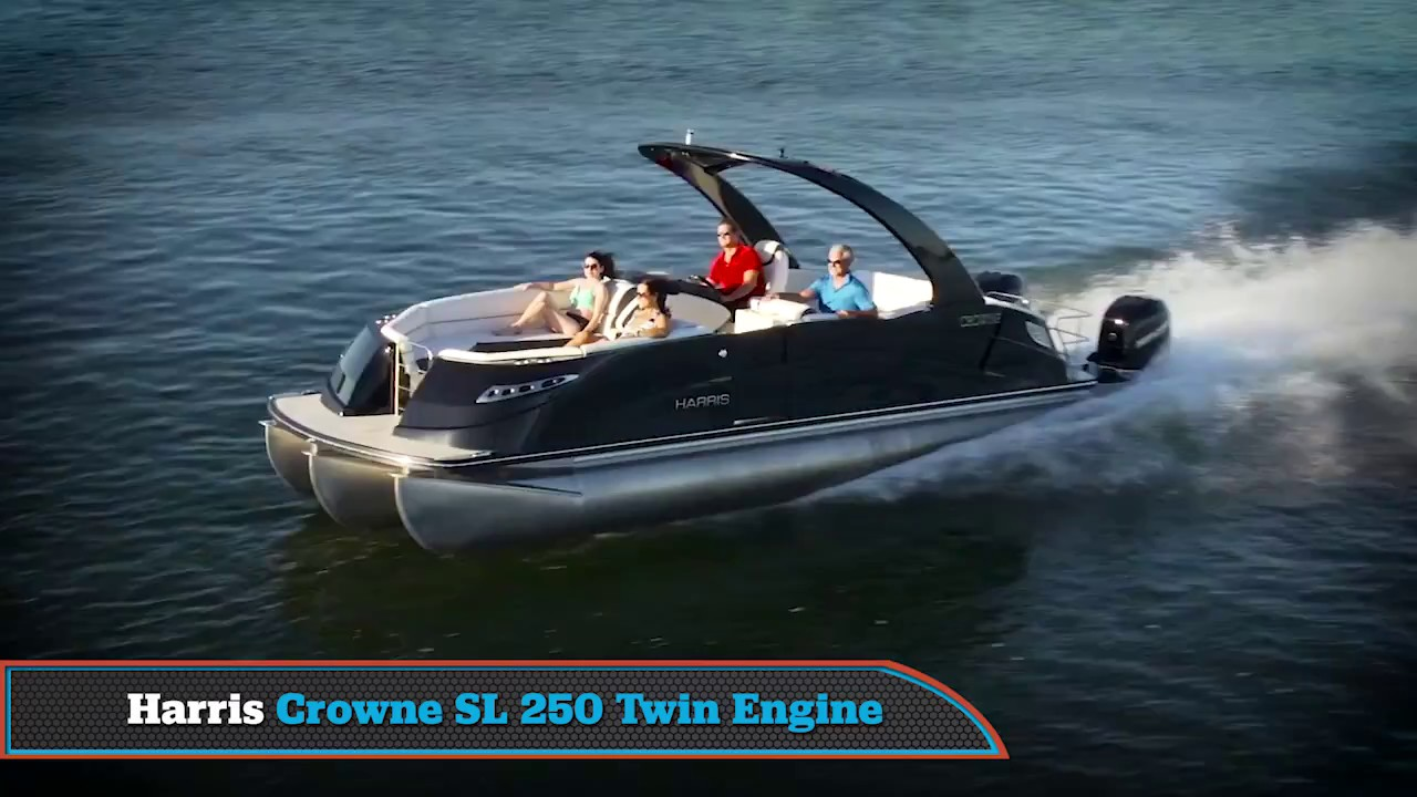 BBG 2017 Harris Crowne SL 250 Twin Engine Review - YouTube