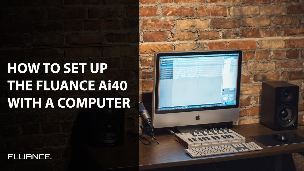 How To Connect And Set Up Your Fluance Ai40 Powered Bookshelf Speakers With A PC Or Laptop