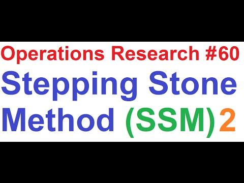 Operations Research Tutorial #60: Stepping Stone Method Solving 5x5 Transportation Problem [2of5]