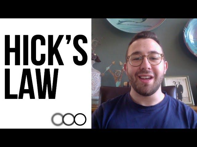 Hicks Law in Design [Clarity Design Studio]