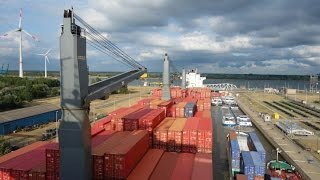 Crossing the Atlantic on a container ship